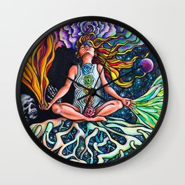 Goddess Rising Wall Clock