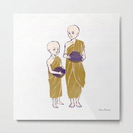 People of Myanmar - Junior Monks Metal Print