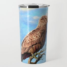 Brown Snake Eagle Travel Mug