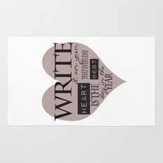 Write It On Your Heart Design Rug