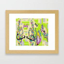 ASL Family and Friends Framed Art Print