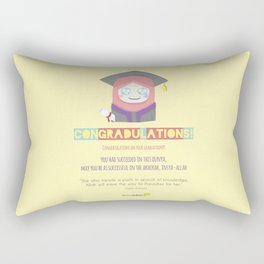 Congradulations! (Female) Rectangular Pillow