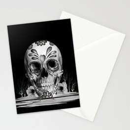 Pulled sugar, day of the dead skull Stationery Cards