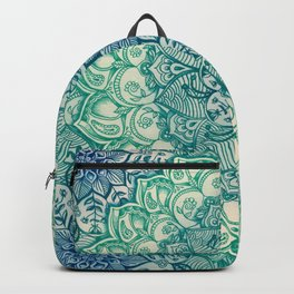Emerald Doodle Backpack