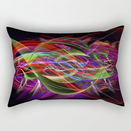 Art Deco Swirl Rectangular Pillow