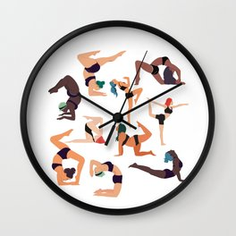 Let's all do yoga Wall Clock