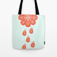 henna Tote Bags featuring Henna Shower by Neela