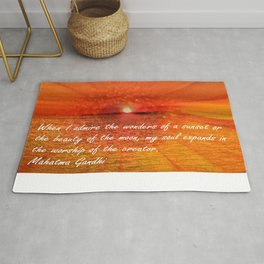 Sunset and Worship of the Creator by Saribelle Rodriguez Rug