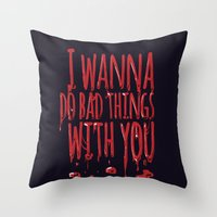 true blood Throw Pillows featuring True Blood  by Lita Rebello