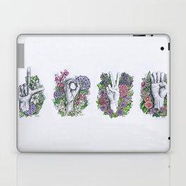 LOVE- ASL alphabet art Laptop & iPad Skin