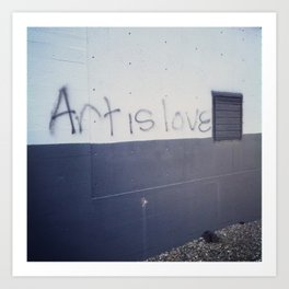 Art is Love Art Print
