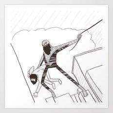 Spider-Beard Art Print