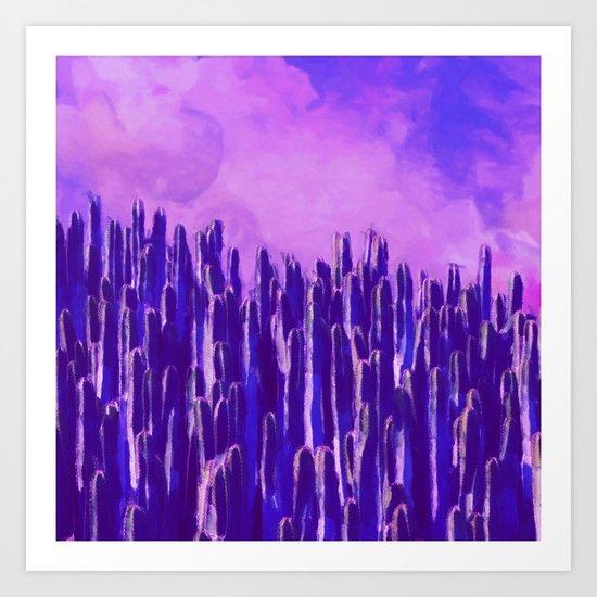Cacti landscape Art Print