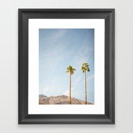Palm Tree Pair Framed Art Print