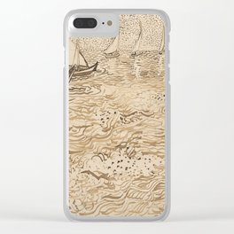 Boats at Saintes Maries by Vincent van Gogh, 1888 Clear iPhone Case