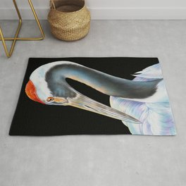 Red Crowned Crane Rug