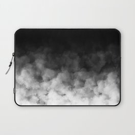 Ombre Black White Clouds Minimal Laptop Sleeve
