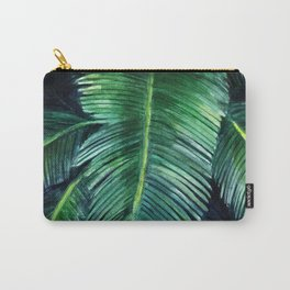 Watercolor tropical print Carry-All Pouch
