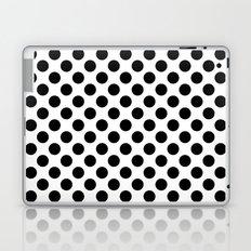 Black Polka Dots Laptop & iPad Skin