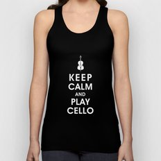 Keep Calm and Play Cello Unisex Tank Top