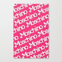 moschino Canvas Prints featuring Moschino Everything by RickyRicardo787