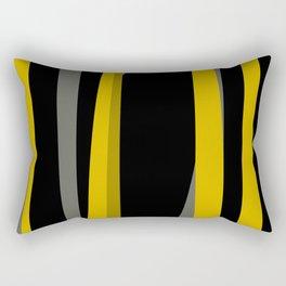 yellow gray and black Rectangular Pillow