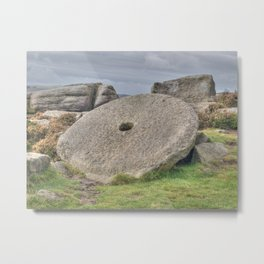 Millstone on edge Metal Print