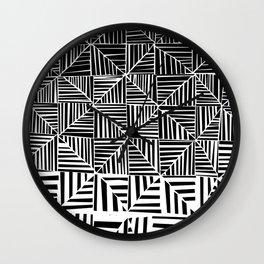 Black & White Pattern Wall Clock