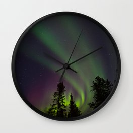 Northern Lights 3 Wall Clock