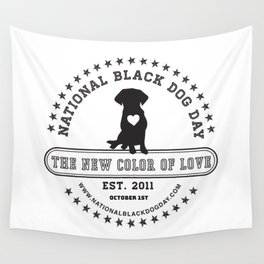 Black Dog Day Official Logo Wall Tapestry