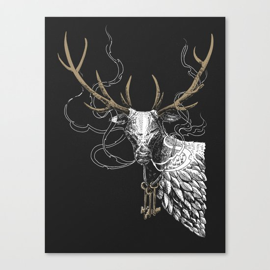 Oh Deer! Light version Canvas Print