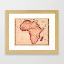 Map Of Africa 1844 Framed Art Print