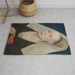 Portrait of a Lady by Rogier van der Weyden Rug