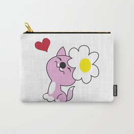 Kitty with daisy flower Carry-All Pouch
