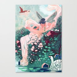 Two Fairies Embracing  Canvas Print