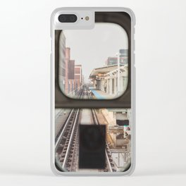Loop Bound - Chicago El Photography Clear iPhone Case