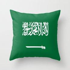Flag of Saudi Arabia Throw Pillow