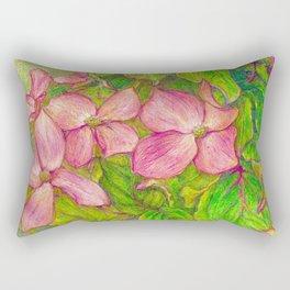 Satomi Dogwood, Pencil Sketch Rectangular Pillow