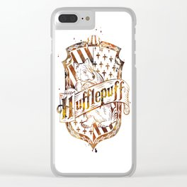 Hufflepuff Crest Clear iPhone Case