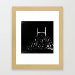 #56Photo #CriticalMass #GoodFridayAdventure #JoziAtNightOnABike Framed Art Print