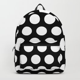 Black with White Polka Dots Backpack