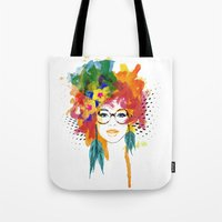 dreamer Tote Bags featuring Dreamer by PositIva