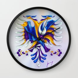 Kosovar (Albanian) Eagle Wall Clock
