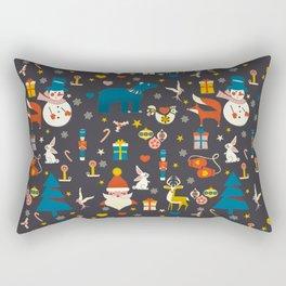 Christmas symbols pattern Rectangular Pillow