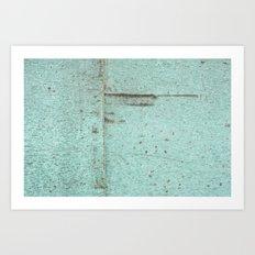Aqua Scratch Art Print