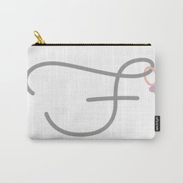 F Initial with Stitch Marker Carry-All Pouch