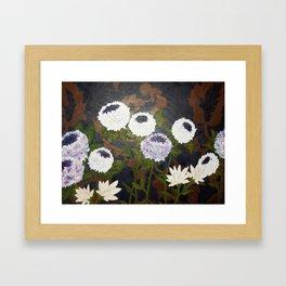Vintage Flowers Framed Art Print