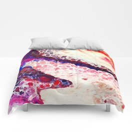 A Modern Leopard Print Abstract Comforters