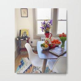 Bright Dining Room Metal Print