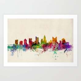 Columbus Skyline Art Print